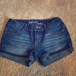 DKNY hipster girls jean shorts